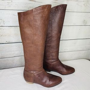 Steve Madden Knee High Creation Boot Brown Leather